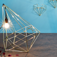 Metallic Diamond Pendant Light