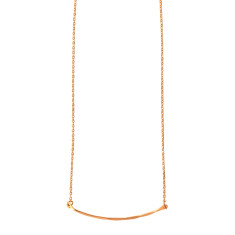 Gold plated Hammered Bar Necklace
