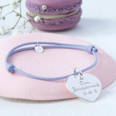 Personalised bridesmaid heart bracelet