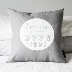 Love you to the moon cushion cover (various colours)