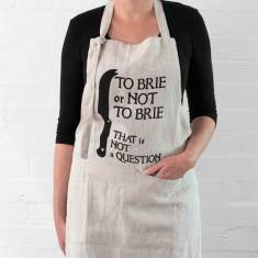 To brie or not to brie apron