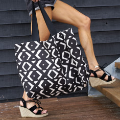 Mud Cloth Beach Bag