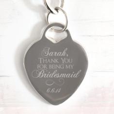 Personalised Bridesmaid engraved bracelet