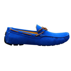 Loafers rope bright blue men's shoe