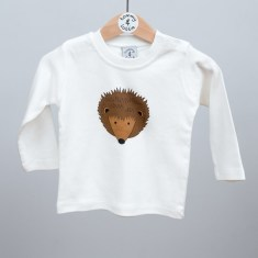 Babies long sleeve t shirt hedgehog