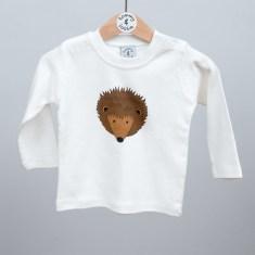 Babies long sleeve t shirt hedgehog