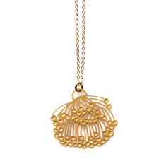 Gold gum blossom tiny pendant