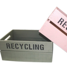 Vintage style recycling storage box