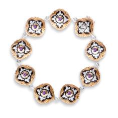 Sophia Sterling Silver & Gold Vermeil Amethyst Bracelet