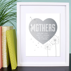 Mothers hold their child's heart for a lifetime print