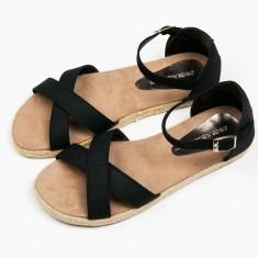Espadrille women's black sandal