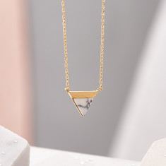 Triangular Marble Stone Necklace