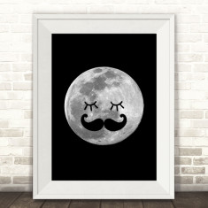 Man in the moon print