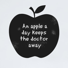 Chalkboard apple wall sticker