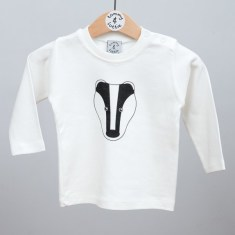 Babies long sleeve t shirt badger