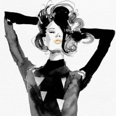 Limited edition large modele fashion giclee print