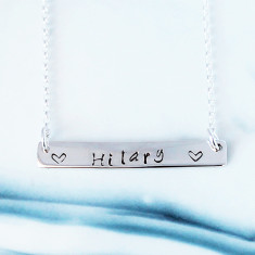 Personalised Bar of Love Necklace