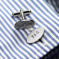 Personalised Oval Cufflinks