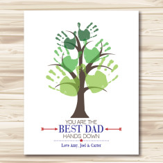 Best dad hands down DIY downloadable print