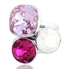 Provence Sterling Silver & Swarovski Elements Stacker Ring Set