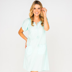 Pia light blue dress with embroidery