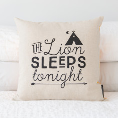 Lion sleeps tonight cushion cover (various colours)