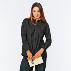 Tunic shirt in black