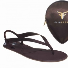 Flipsters foldable flip flop shoes in copper