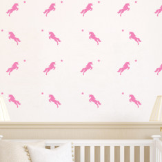 Unicorn And Star Silhouette Wall Stickers