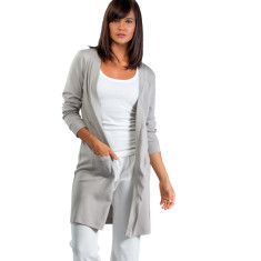 Organic pima cotton cardigan & robe in pumice
