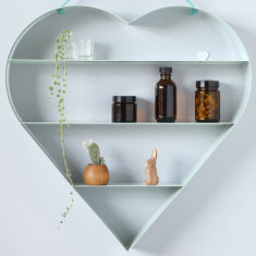 Mint heart shelf