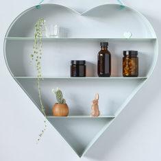 Mint heart shelf