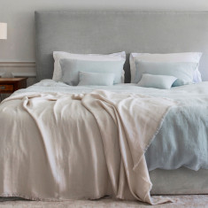 Linen Bed Sheet Set - Duck Egg
