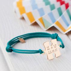 Personalised puzzle bracelet