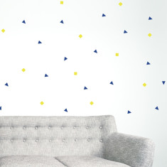 Raining shapes wall sticker