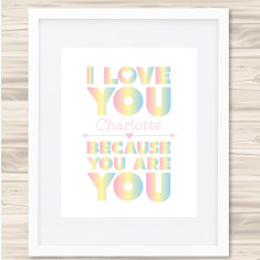 I love you personalised print