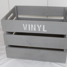Vinyl record 12 inch storage crate