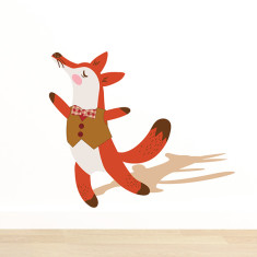 Happy Dancing Fox Removable Wall Sticker