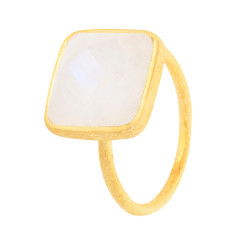 Cupcake Square Ring With Moonstone