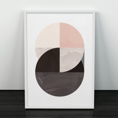 Circles study earth tones art print