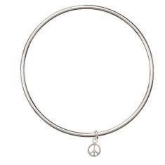 Peace charm bangle