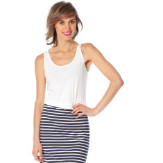 Navy stripe cotton jersey skirt