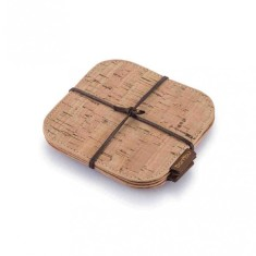 Bambu - Cork Fabric Coasters Set of 4