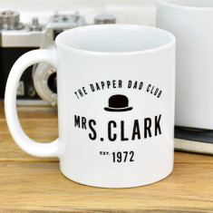 Personalised Dapper Dad Club Mug
