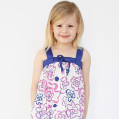 Girls' camellia dress