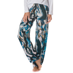 Ocean dipped silk pants