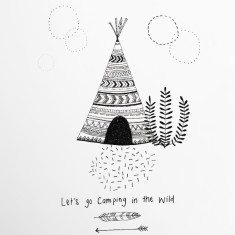 Lets Go Camping In The Wild wall sticker