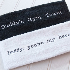 Personalised embroidered gym towel