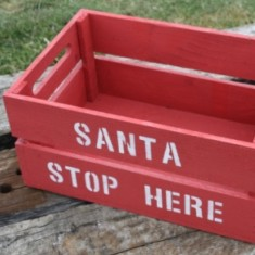 Personalised Christmas crate