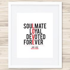 Love typographic print